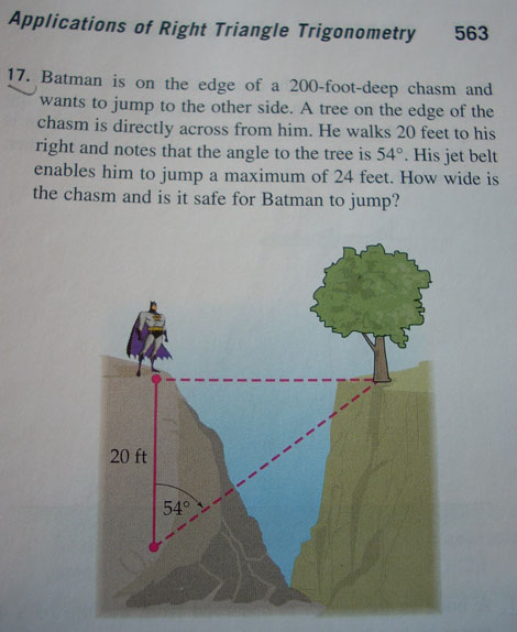 Batman trigonometria